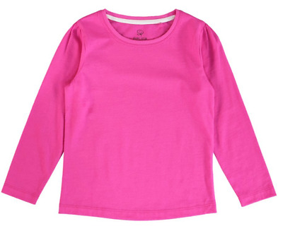 Girls Long Sleeve T Shirt 0 1 2 4 Organic Soft Cotton Pink / Hot Pink / Coral