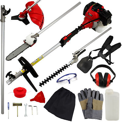 Garden Hedge Trimmer 5 in 1 Petrol Strimmer Chainsaw Brushcutter Multi Tool 4