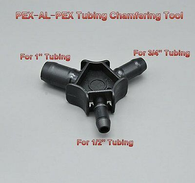 "PEX-AL-PEX Tubing Chamfering Tools Reaming Rounder For 1/2"" 3/4"" 1"" PEXwork J0T"