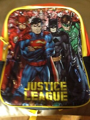 Justice League Backpack: brand new, 15 inches, great gift!