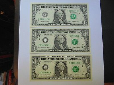 3-One Dollar Uncirculated Star Notes