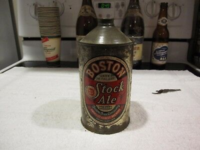 BOSTON STOCK ALE QUART CONE TOP -  Boston Beer Company - Boston Mass