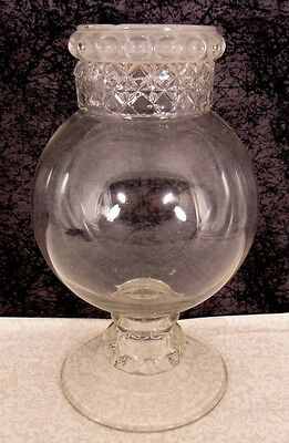 "Antique Dakota Show Globe Apothecary Display Candy Store 11 1/2"" Glass Jar"