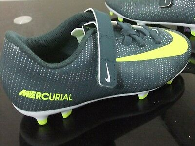 Boys Nike Mercurial Vapor Xi Cr7 Fg Football Sports Trainers Boots Uk Size  10.5