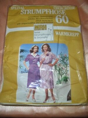 Vintage MRH 60 den Warmkrepp Strumpfhose 40-42 perle Tights Collant OVP