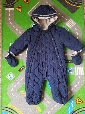 Next boys 12-18 months all in one snow suit winter coat