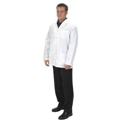 (Lot Of 2) Mens Size S Small White Collared Lab Jacket Coat