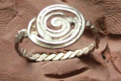 L6 Ancient Medieval Silver Ring  D size=16mm  1.3g