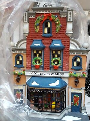 Dept 56 SCOTTIE'S TOY SHOP #58871 Christmas in the City Gift set 10 NEW!