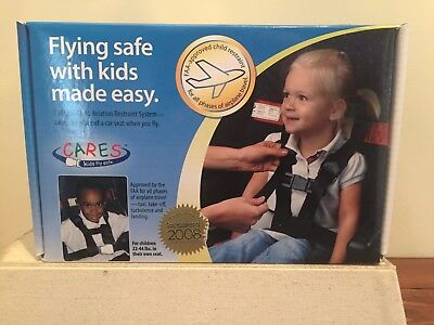 CARES AIRPLANE HARNESS - Kids Fly Safe - FAA Approved  22-44 Lbs *Complete Set*