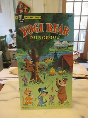 Yogi Bear Punchout Book 1959 Dell Unpunched File Copy from Whitman Publishing