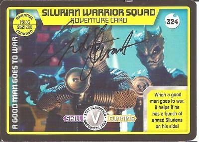 Doctor Who - Catrin Stewart signed Monster Invasion card