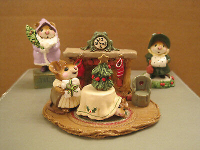 Wee Forest Folk Lot of (3) Christmas Eve plus Father Christmouse and Miss Noel
