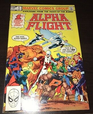 Alpha Flight #1 1st App Puck Marrina John Byrne Marvel Bronze Age Comic 1983