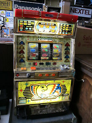 Aruze co. Big Chance 777 Table Top Token Slot machine, Very Nice, Works,