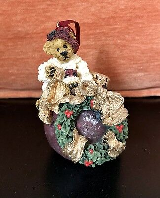 Jingle Bells Musical Christmas Ornament Boyds Bears Edmund Deck the Halls