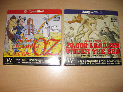 20000 leagues under the Sea, + The Wonderful Wizard of OZ. Each have 2cds. Promo