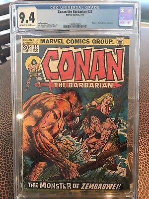 Conan the Barbarian #28 CGC 9.4 OW/W pages