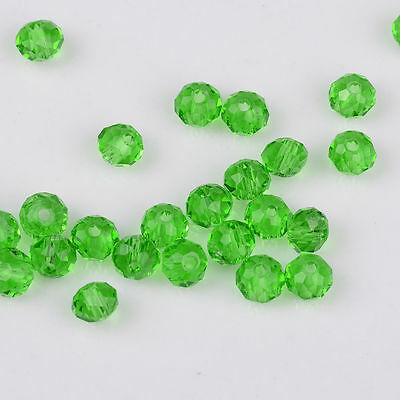 Green Faceted 100pcs Rondelle exquisite crystal 3x2mm Chinese Beads/*