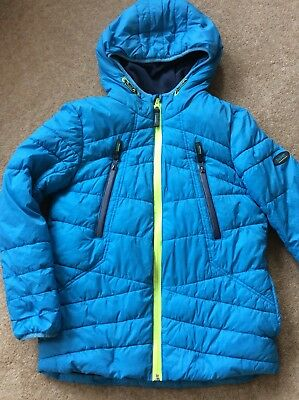 Ted Baker Age 11 146 Cm Blue Jacket Padded Quilted Puffa Baker Logos Excellent