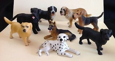 Realistic Plastic Dog Collection - Schleich - Lot of 8 - NO RESERVE