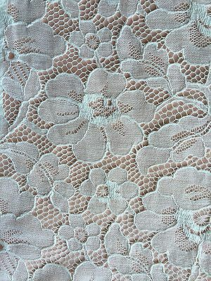 """vintage 1940  french lace 1 yard 15 x 7""""1/2 Very Good Condition"""