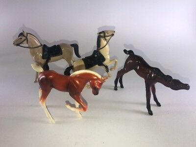 "Hartland Plastics 4""-5"" Scale Horses Foal Lot Of 4"