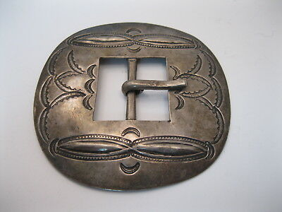 GREAT OLD Early 1900s Navajo Silver Concho Belt Buckle