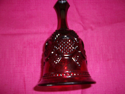 Elegant Vintage Avon Ruby Red Cape Cod Pressed Glass  Inch Hostess Dinner Bell