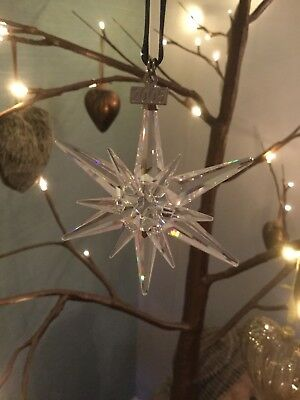 Swarovski Crystal 2005 Annual Star Christmas Ornament Snowflake L/e