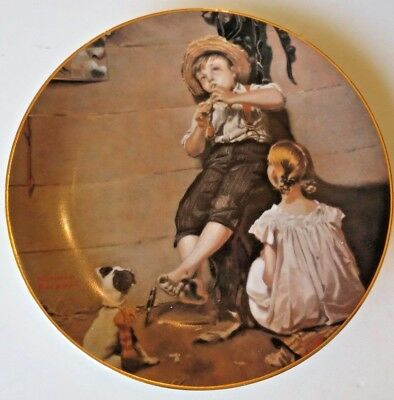 """*the Concert* Rockwell """"Gentle Memories"""" Series Plate –Gift For Musical Boy/girl"""