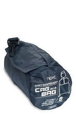 BNWT NEXT Black Raincoat Waterproof Coat Jacket Cagoule Pac-a-Mac 4 Years