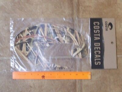 New Genuine Costa Del Mar Decal Sticker MOSSY OAK Camo Extra large over 11""