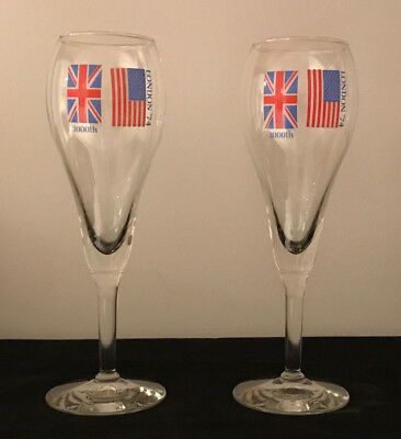McDonalds 1974 3,000th Restaurant London Pair of Champagne Glasses and Matchbook
