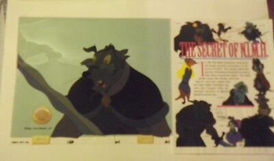 Don Bluth Jenner Secret of NIMH 1982 orig production animation cel LJE Seal COA