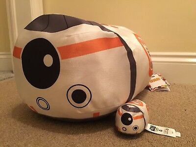 "BNWT Disney Star Wars BB-8 Large Tsum Tsum 17"" Force Awakens / Last Jedi"