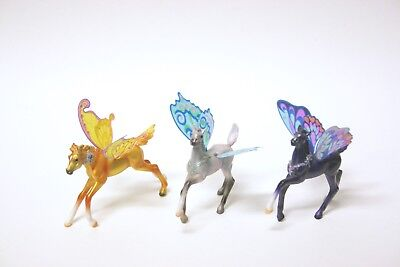 "Breyer Reeves Butterfly Mini Horse Pony Wings 3"" Trio"