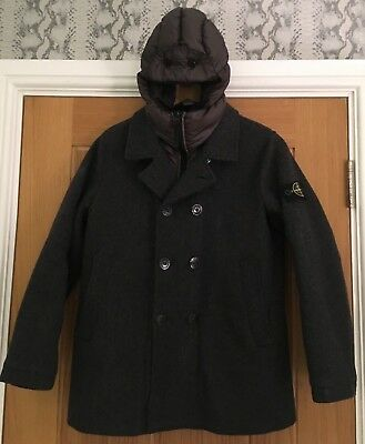 Stone Island Junior Boys Coat/Jacket With Removable Hood Age 12  ~immaculate ~