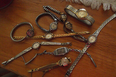 Grouping of ten vintage watches