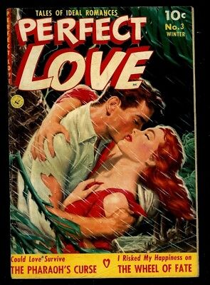 Perfect Love #3- Great Ziff-Davis Painted Covers-1951 Vg/f