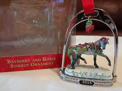 Breyer Horse Bayberry and Roses Stirrup Ornament #700314 2014 w/box