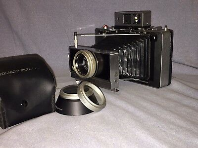 Vintage Polaroid 180 camera w/case and filter kit