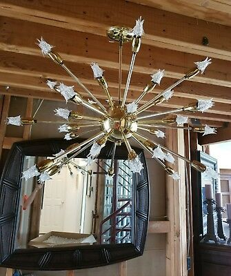 Vintage mid century modern 36 light Sputnik chandelier and bulbs all original