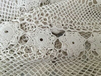 TABLE CLOTH CROCHET large  round 170cm  not perfect Very Clean