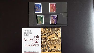 1978 25th Anniversary of the Coronation Pack of 4 Stamps MNH