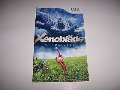 Instructions for Xenoblade Chronicles Book Booklet Manual Nintendo Wii