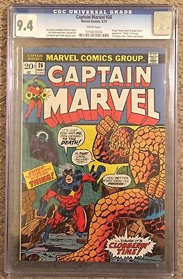 Captain Marvel #26 CGC 9.4 NM - 1st DEATH, 3rd Thanos