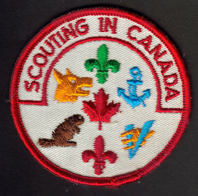 """Boy Scouts Canada """"scouting In Canada"""" Patch Cubs Beavers Venturers Sea Scout"""