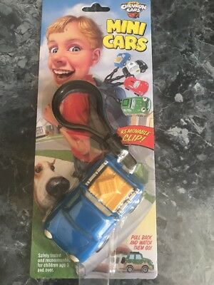 Chevron Mini Car Pete Pick Up Blue Removable Clip Pull Back 100% For Charity