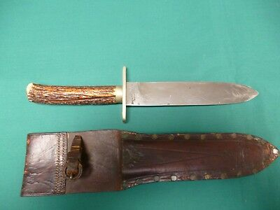 Antique Bowie/Hunting Knife and Sheath.
